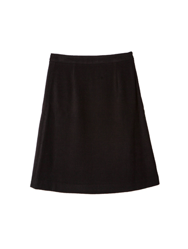 A-line mini skirt / Black