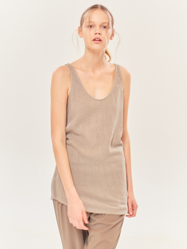 Tape Loose Sleeveless / L.Beige