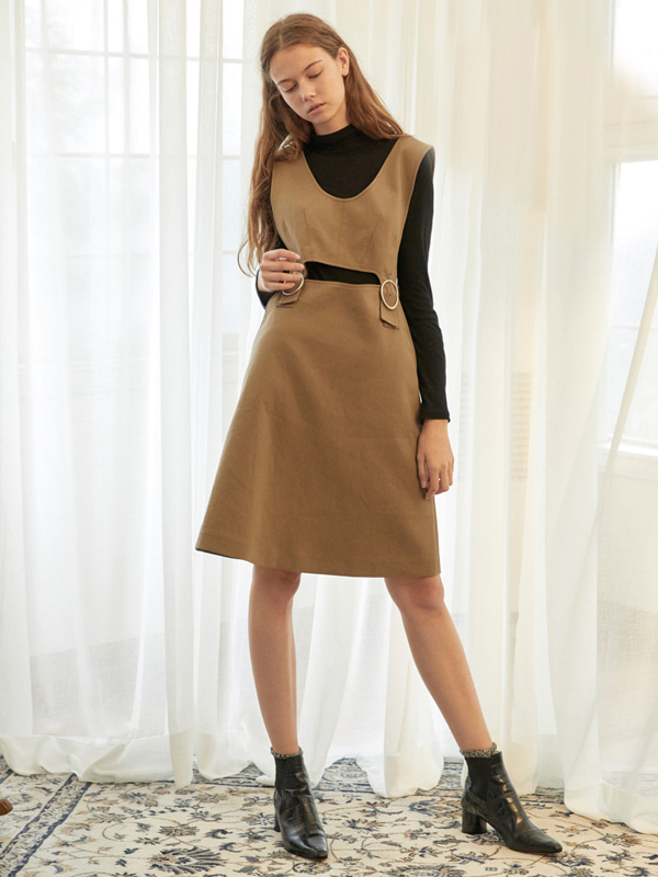 Buckle A Dress / K Beige