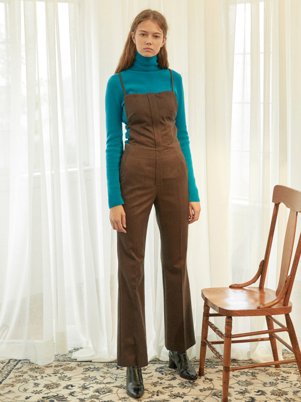 Apron Slim Overalls / Brown