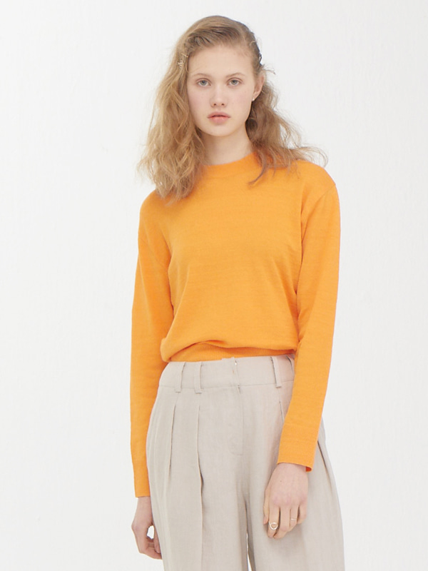 Plain Knit Top / Orange