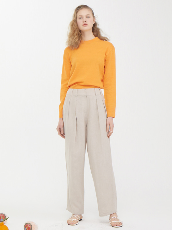 Plain Knit Top  +  Tuck Enough Pants