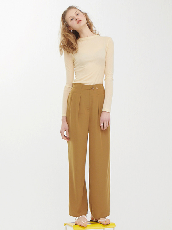 Rawcut Sheer T + Classic Tuck Pants