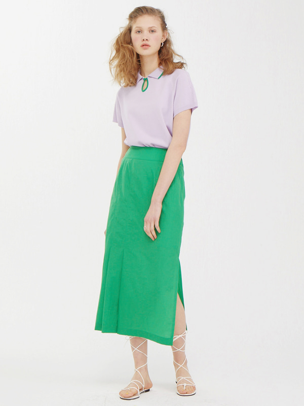 Knit Pique Shirts + One Side Tuck Skirt