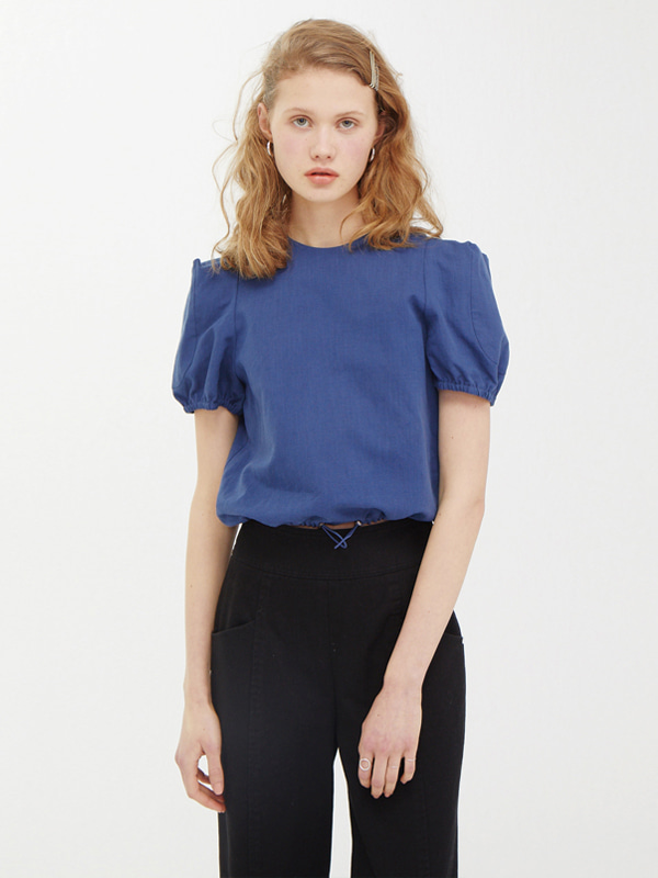 Edge Shoulder Top / Navy