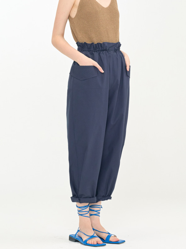 Volume Banding Pants / Navy