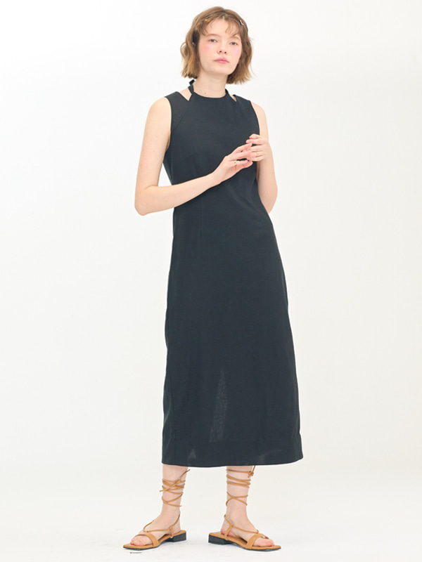 Halter Slim Dress / Black