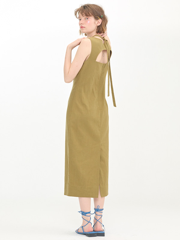 Halter Slim Dress / Khaki