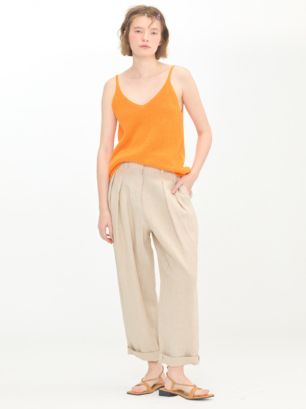 Ribbed Natural Slip +  Tuck Enough Pants