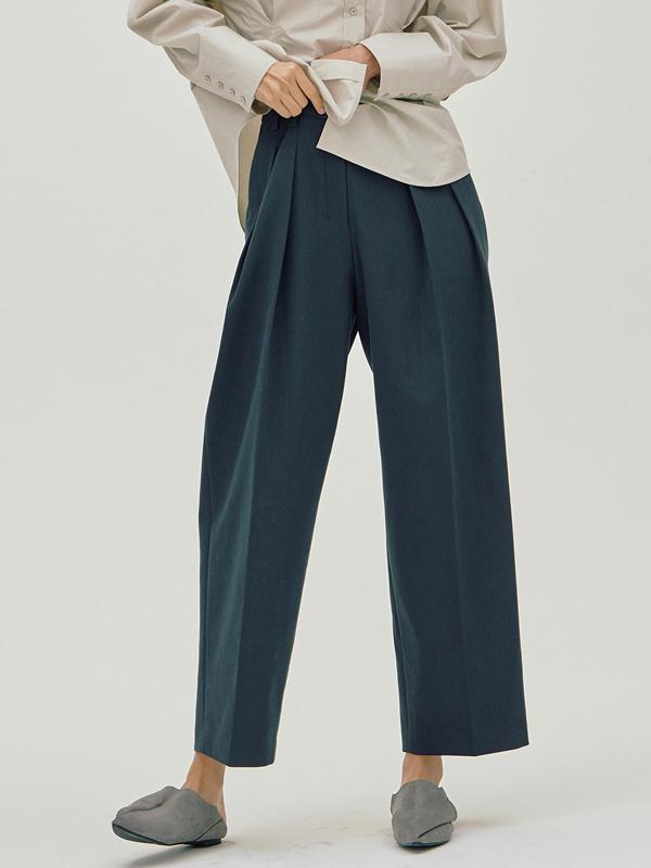 Zigzag Wide Pants / Navy