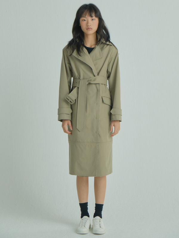 Rawcut Trench Coat / beige