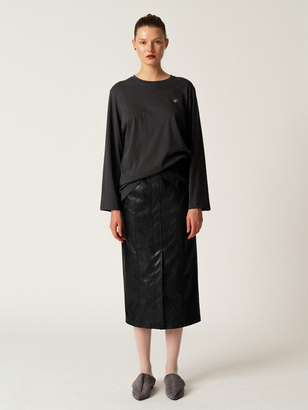 Signature Logo T + Leather Stitch Skirt