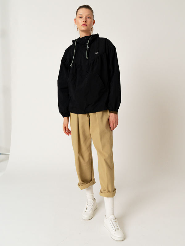 Patch Anorak Jumper + Zigzag Wide Pants