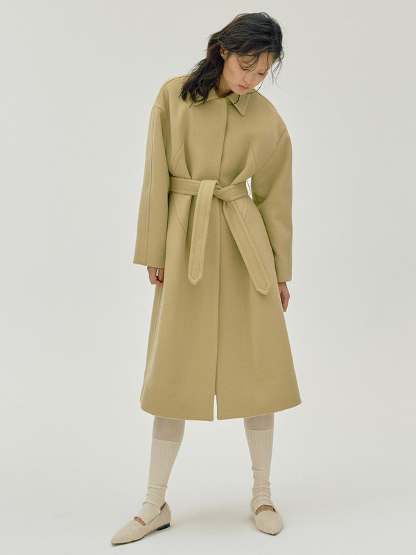 X Dart Coat / Light Beige