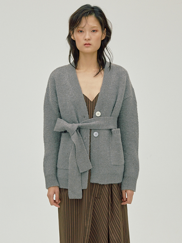Mohair Belted Cardigan / M.Grey