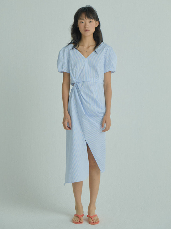 Halfmoon Side Dress / Light Blue