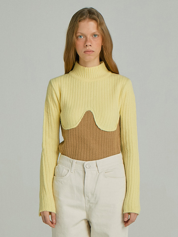 Coloration Sweater Top / Yellow
