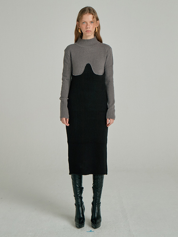 Coloration Sweater Dress / Grey