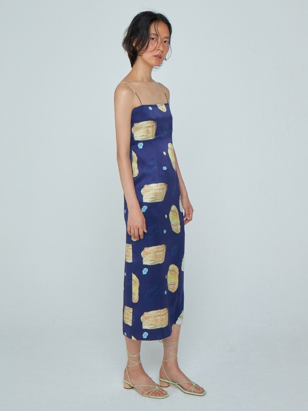 Silk Slip Dress_Navy