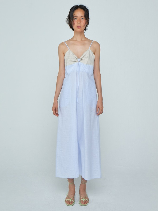 Coloration Slip Dress_Light Blue