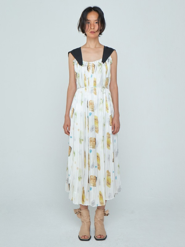Detachable Pleats Dress_White